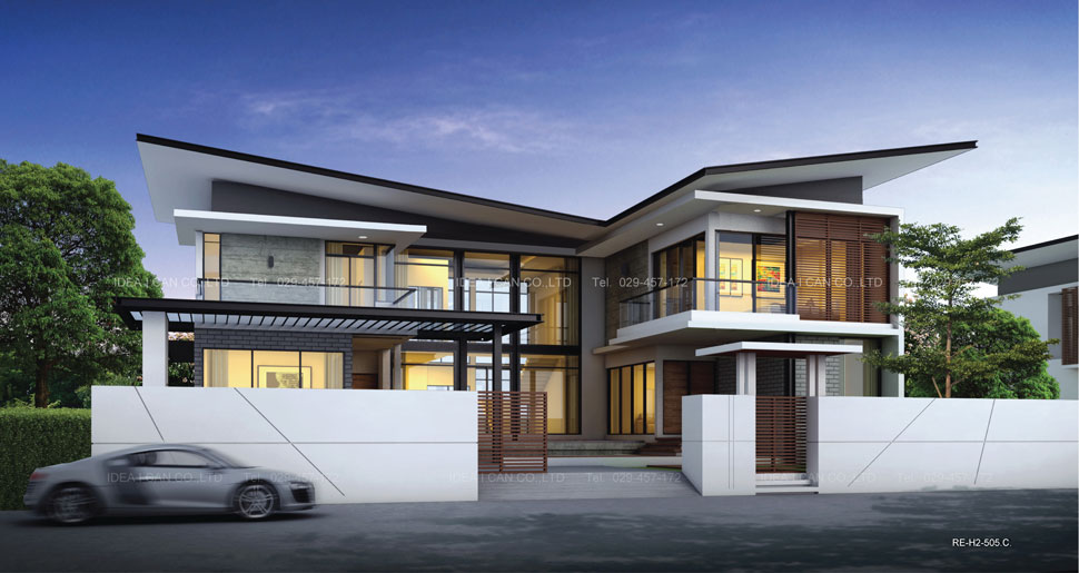 2 modern style 327 4 Modern double storey house plans